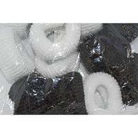 Резинка Калуш большая 12 шт. черно-белая
