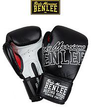 Боксерские перчатки Benlee ROCKLAND 10oz, кожа, черно-белые