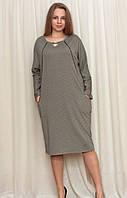 Женское платье с модным оформлением горловины , фото 1