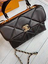 Жіноча сумка Шанель репліка в чорному кольорі, фото 3