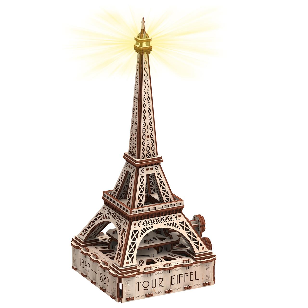 Ейфелева вежа (Еко - лайт) механічна дерев'яна 3D-модель