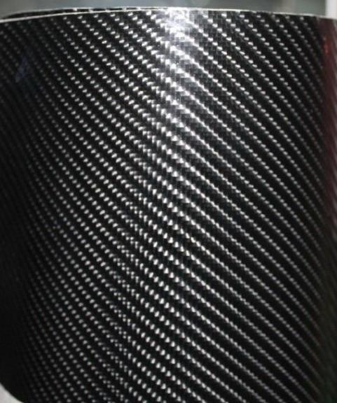 Карбон пленка 4D черная под лаком с микроканалами