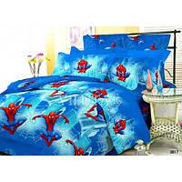 Детский полуторный постельный комплект белья Спайдермен