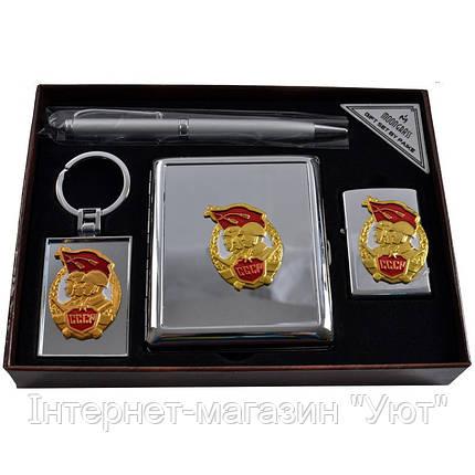 Подарочный набор, портмоне + зажигалка + ручка + брелок, фото 2