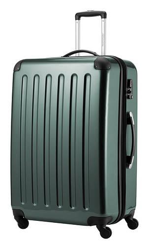 Оливковый практичный чемодан-гигант 4-колесный из пластика 130 л. HAUPTSTADTKOFFER alex maxi olive