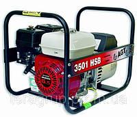 Однофазный генератор 3 кВА, Honda GX200, 4,8 кВт/6,5 л.с, 196 см3, 3,6 л, 42 кг, ручной старт AGT 3501 HSB SE.