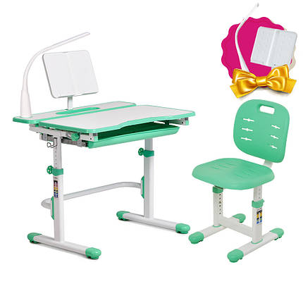 Комплект зростаюча парта Cubby Fressia Green + стілець дитячий FunDesk SST2 Green, фото 2