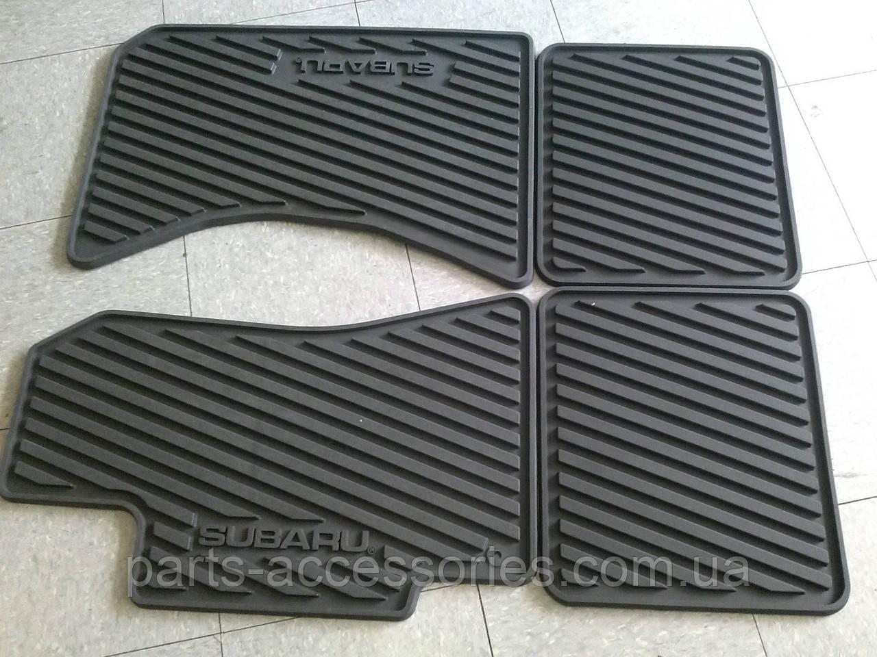 Subaru Legacy 2001-2004 коврики резиновые передние задние новые оригинальные