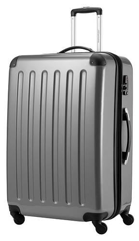 Дорожный семейный чемодан-гигант 4-колесный 130 л. HAUPTSTADTKOFFER alex maxi silver светло серый