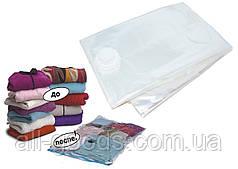 Вакуумний пакет для зберігання речей ADK 50х60 см (прозорий) All, фото 3
