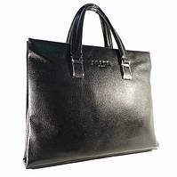 Кожаный портфель, сумка для документов, папка Prada унисекс , 38*30*6 см