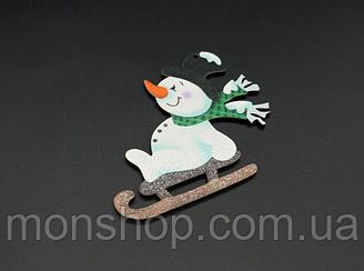 Дерев'яна новорічна іграшка з печаткою (10 см)