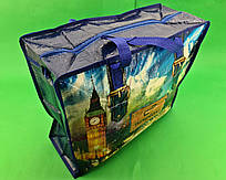Сумка хозяйственная , полипропиленовая,  с цветным рисунком  №2 Лондон (10 шт)