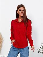 Классическая женская женская рубашка из стрейч-коттона р-ры 42,44,46