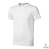 Футболка белого цвета, 100% хлопок Nanaimo (Elevate), футболки под логотип