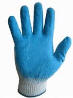 Перчатки трикотажные синтетические  с тонким латексным покрытием