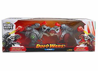 Набір Robo Alive роботизованих бойових тиранозаврів - динозаврів Війна динозаврів