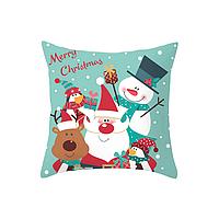 Новогодняя наволочка для подушки с принтом Новый Год