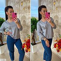 Нарядный женский красивый свитер из трикотажа р-ры 44-48