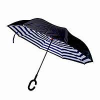 Зонт обратного сложения «Полоска», 110 см, фото 1