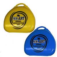 Футляр для боксерской капы ZELART (полипропилен, синий, желтый, прозрачный)