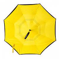 Зонт обратного сложения желтый, 110 см, фото 1