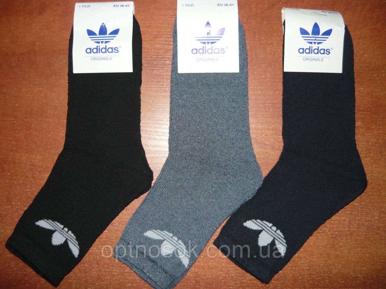 """Підліткові махрові шкарпетки """"в стилі"""" """"Adidas"""". р. 36-41. Туреччина"""