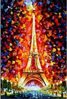 Алмазная вышивка Эйфелева башня в огнях. Париж. KLN 30*20 см (арт. FS003)