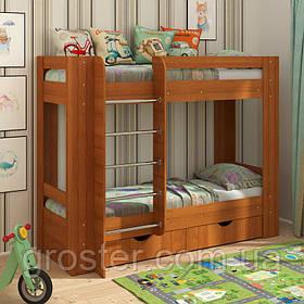 Двох'ярусне ліжко з шухлядами для білизни Дует-3