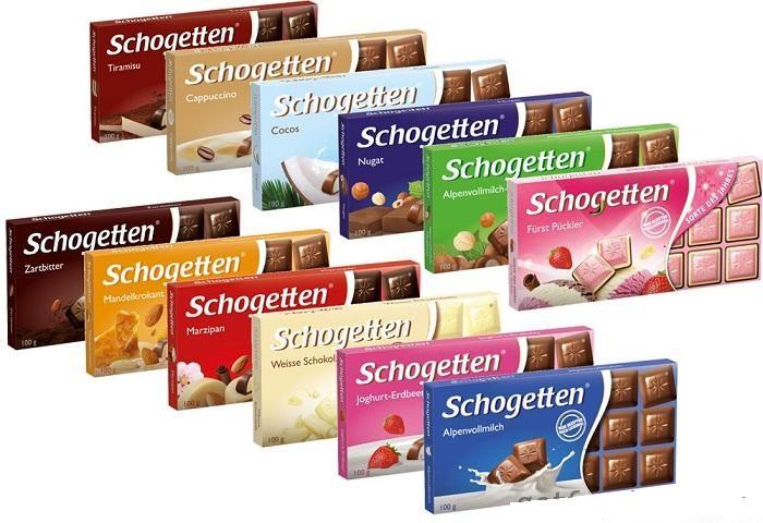 Шоколад Schogetten 100гр. Германия в ассортименте