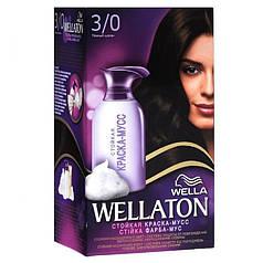 Краска-мусс для волос стойкая WELLATON 3/0 Темный шатен