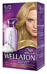 Краска-мусс для волос стойкая WELLATON 9/0 Очень светлый блондин