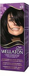 Крем-краска для волос стойкая WELLATON 2/0 Черный