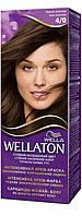 Крем-краска для волос стойкая WELLATON 4/0 Темный шоколад