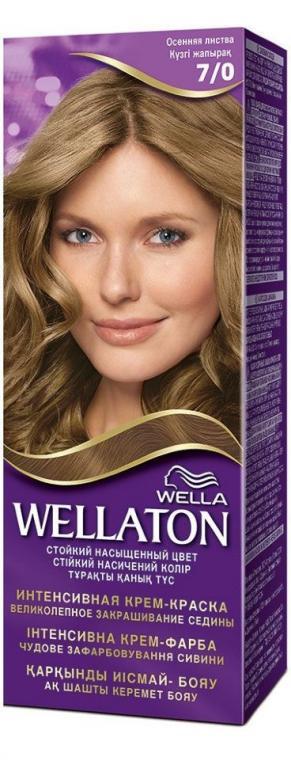 Крем-краска для волос стойкая WELLATON 7/0 Осенние листья