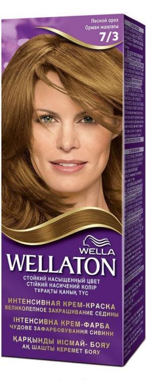 Крем-краска для волос стойкая WELLATON 7/3 Лесной орех