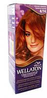 Крем-краска для волос стойкая WELLATON 8/74 Шоколад с карамелью