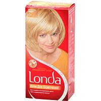 Крем-краска для волос стойкая LONDA 01 Солнечный Блондин