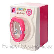 Детская игровая стиральная машинка 677 на батарейках (Розовый)