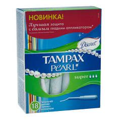 Тампоны TAMPAX Discreet Pearl Super Plus c аппликатором 18 шт
