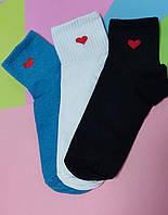 Носки 36-40 размер 6 пар с принтом плотные хлопок 6 шт. комплект упаковка женские подросток носочки