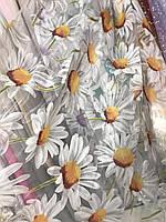 Квітковий тюль з органзи в різних кольорах, висота 2,8м (913), фото 3