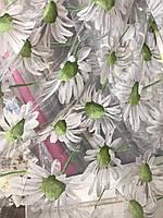 Квітковий тюль з органзи в різних кольорах, висота 2,8м (913), фото 2