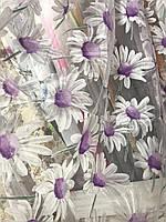 Квітковий тюль з органзи в різних кольорах, висота 2,8м (913), фото 4