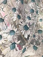 Квітковий тюль з органзи в різних кольорах, висота 2,8м (913), фото 6