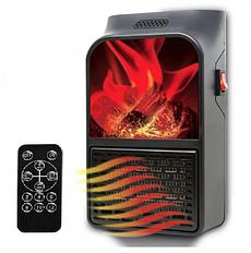 Тепловентилятор обогреватель Flame Heater портативный с пультом 500 Вт | Настенный камин для дома