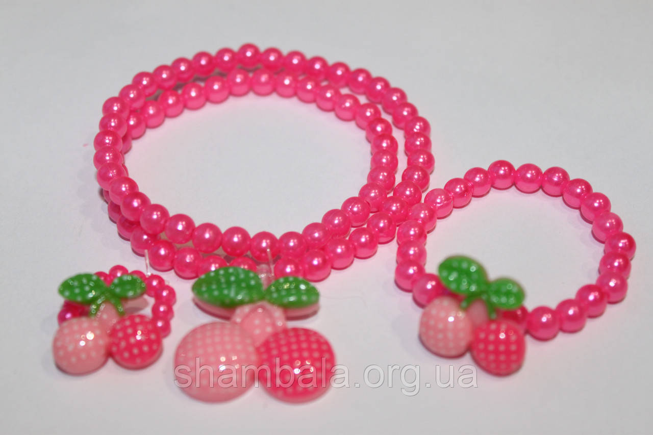 Детский набор: ожерелье, браслет, колечко
