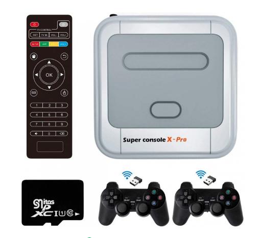 Ігрова консоль X Pro S905X HD+ 64гб Android 4К онлайн TV   Приставка супер про емулятор PSP/PS1