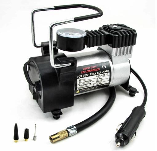 Автомобильный компрессор air pump 12В 965 кПа мини насос для накачивания колес