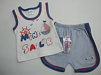 Летний трикотажный  костюмчик для мальчика 0-4года